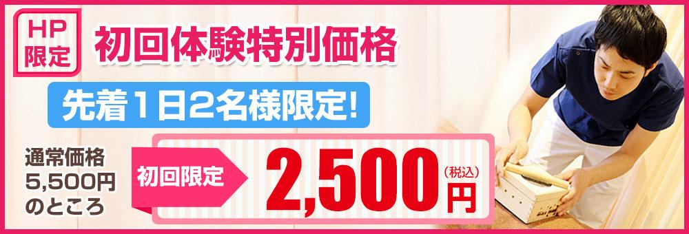 初回体験特別価格2500円
